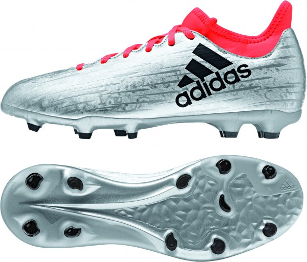 adidas X16.3 FG J Fußballschuhe Fußball Schuhe Kinder Nockensilber