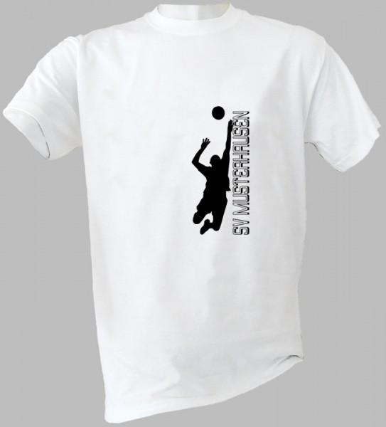 T-Shirt ACTION mit Volleyball-Motiv und Vereinsnamen