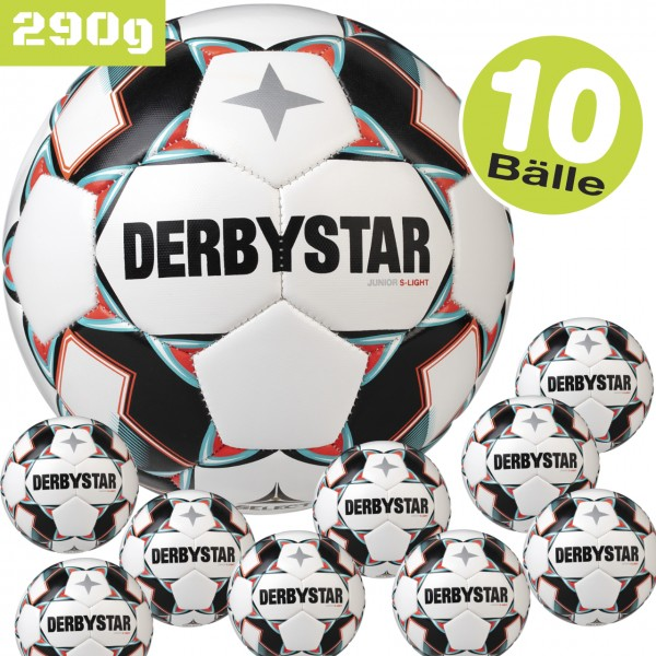 10er Set derbystar Junior S-Light 290g v20 Jugend-Fußball