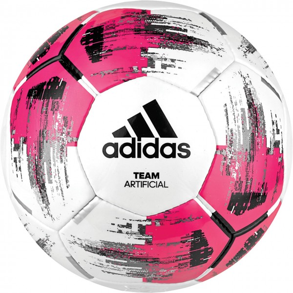 adidas Team Artificial Fußball weiß-pink-schwarz  Gr5