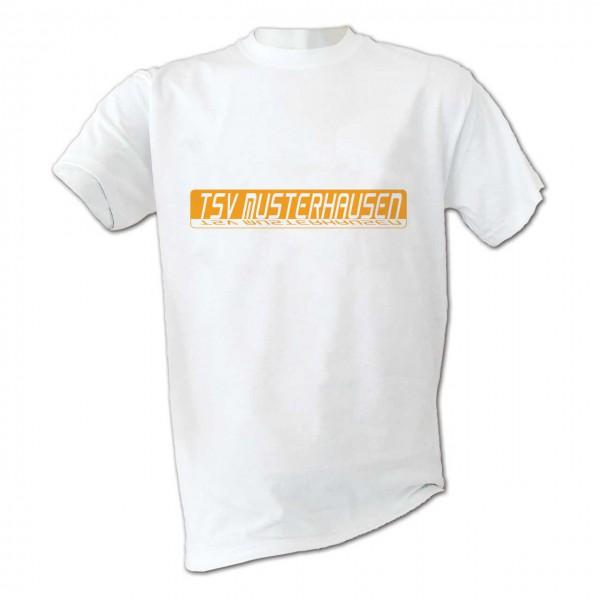 Motiv T-Shirt Mirror weiß mit Vereinsname in Farbe Kinder