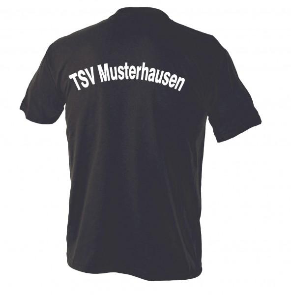 T-Shirt mit Rückenaufschrift Kinder