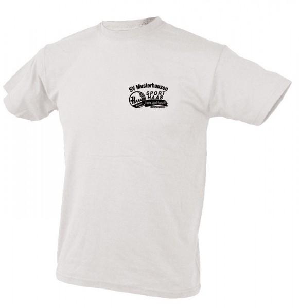 T-Shirt einfarbig Brust Vereinsname und SHL Kinder