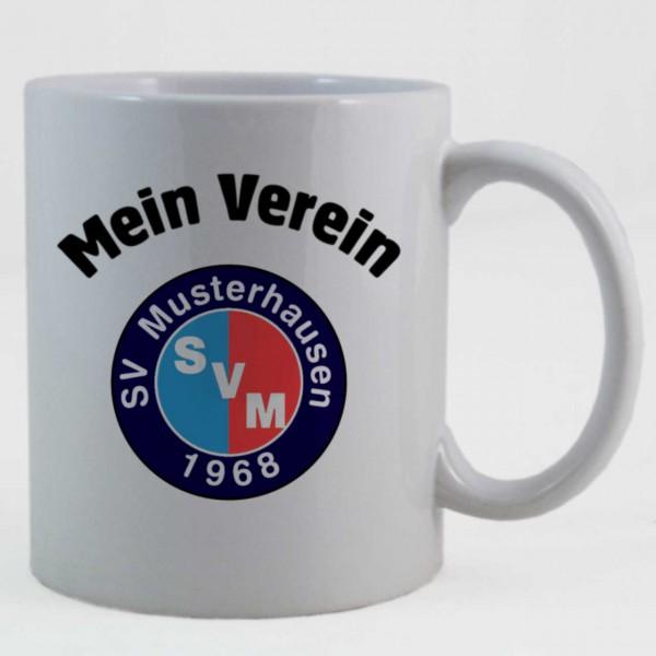 """Tasse mit """"Mein Verein"""" und Vereinswappen"""