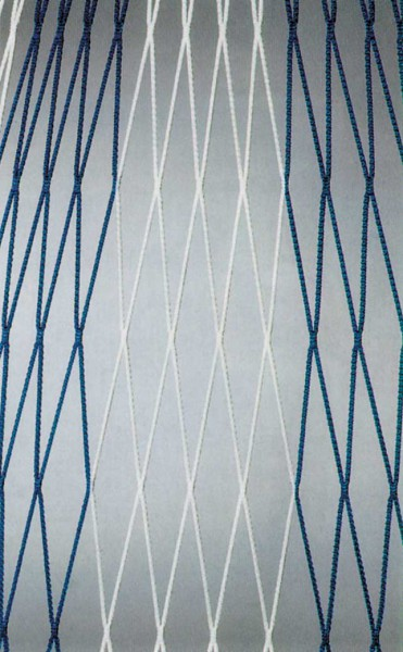 Fußball-Tornetz 7,5 x 2,5 x 0,8-1,5m zweifarbig