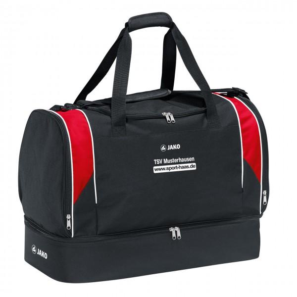 Jako Attack 2.0 Sporttasche mit Bodenfach Senior rot-schwarz