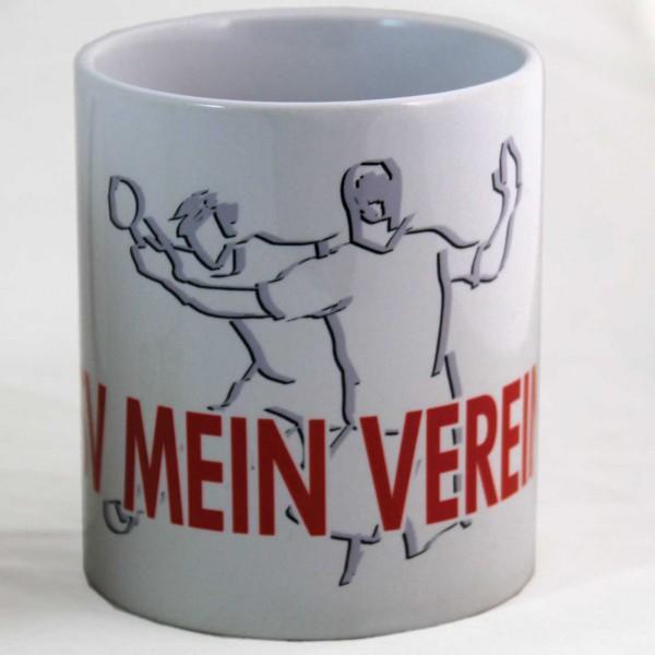 Tasse mit Handball-Motiv und Vereinsname