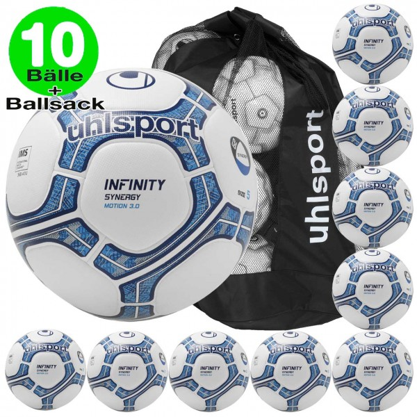 10er Ballset uhlsport Fußball INFINITY SYNERGY MOTION 3.0