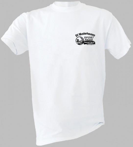Aufwärm-T-Shirt Brust Vereinsname und SHL