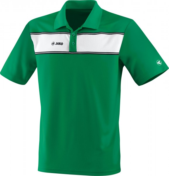 Jako Player Polo Kinder grün/weiß – Gr 164