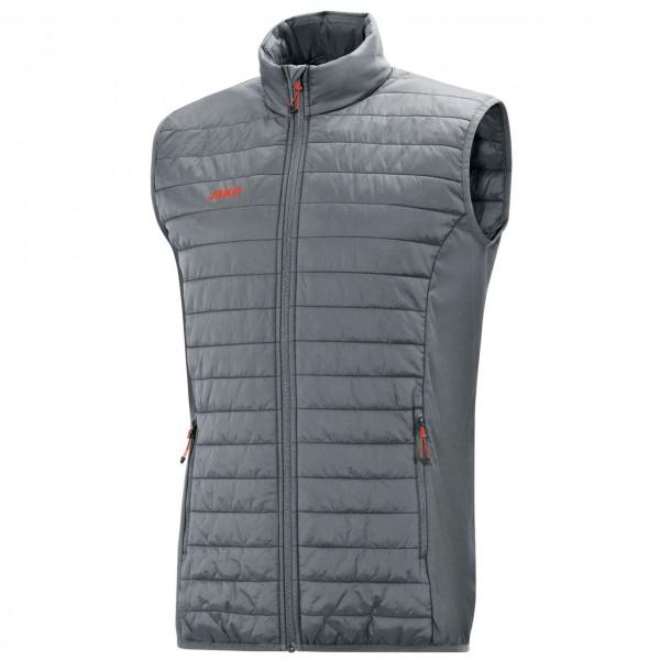 Jako Steppweste Premium Damen      wärmeisolierende Wattierung an Brust und Rücken     Seitenbereich mit hochelastischem Funktionsmaterial     Armloch- und Jackenabschluss mit elastischer Binding     durchgehender Frontreißverschluss     Seitentaschen mit