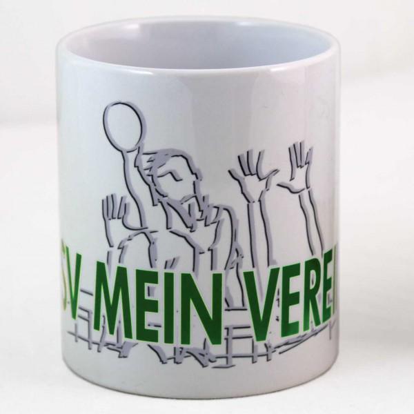Tasse mit Volleyball-Motiv und Vereinsname