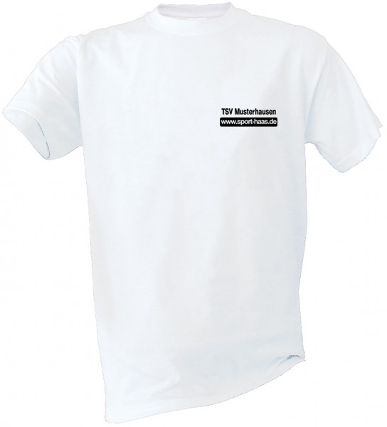 T-Shirt einfarbig Brust Vereinsname und SHL