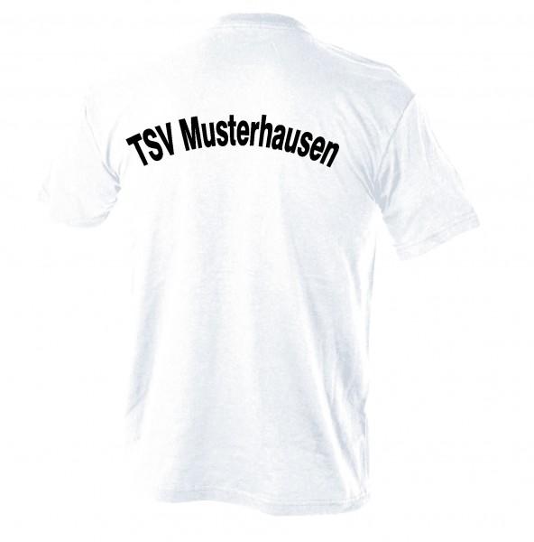 T-Shirt mit Rückenaufschrift