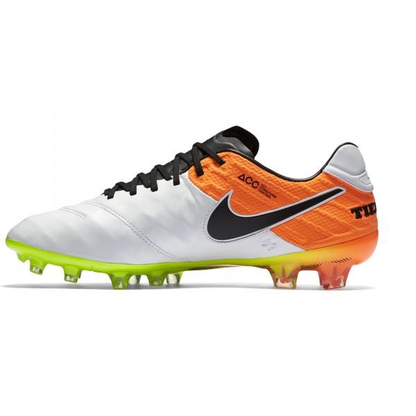 Nike Tiempo Legend VI FG Fußballschuh Fb108 weiß-schwarz-orange