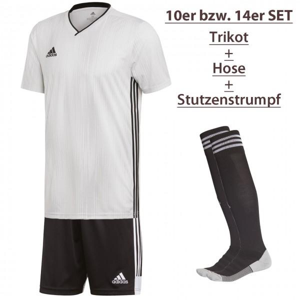 14er adidas Kurzarm-Trikot-Hosen-Stutzen-Set Tiro19-Tastigo19-Adisock18