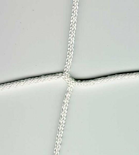 Fußball-Tornetz 7,5 x 2,5 x 0,8-1,5m weiß, 4mm